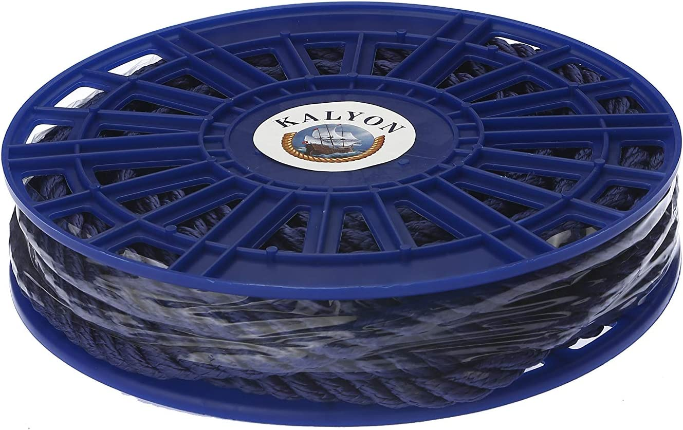 KALYON Premium Quality 3 Strands 10MM Made in Turkey Marine Rope 3//8 45ft All Sizes Floating Polypropylene Rope