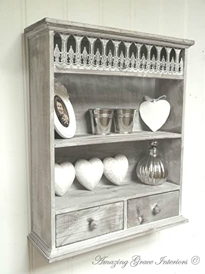 Fine Home Decor Shabby Chic Wall Unit Shelf Storage Cupboard Cabinet French Vintage Style Interior Design Ideas Gentotryabchikinfo