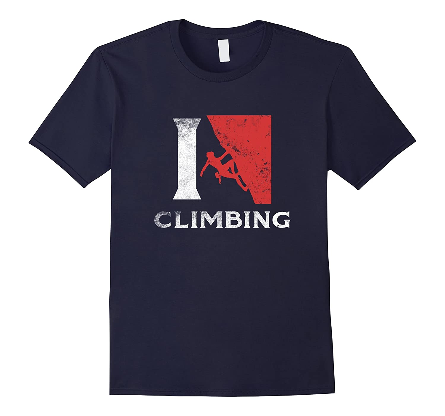 American Rock Climber T Shirt I Love Climbing Gifts Cool Tee-CD
