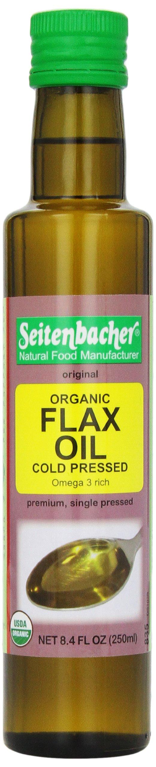 Seitenbacher Organic Oil, Flaxseed, 8.4-Ounce by Seitenbacher