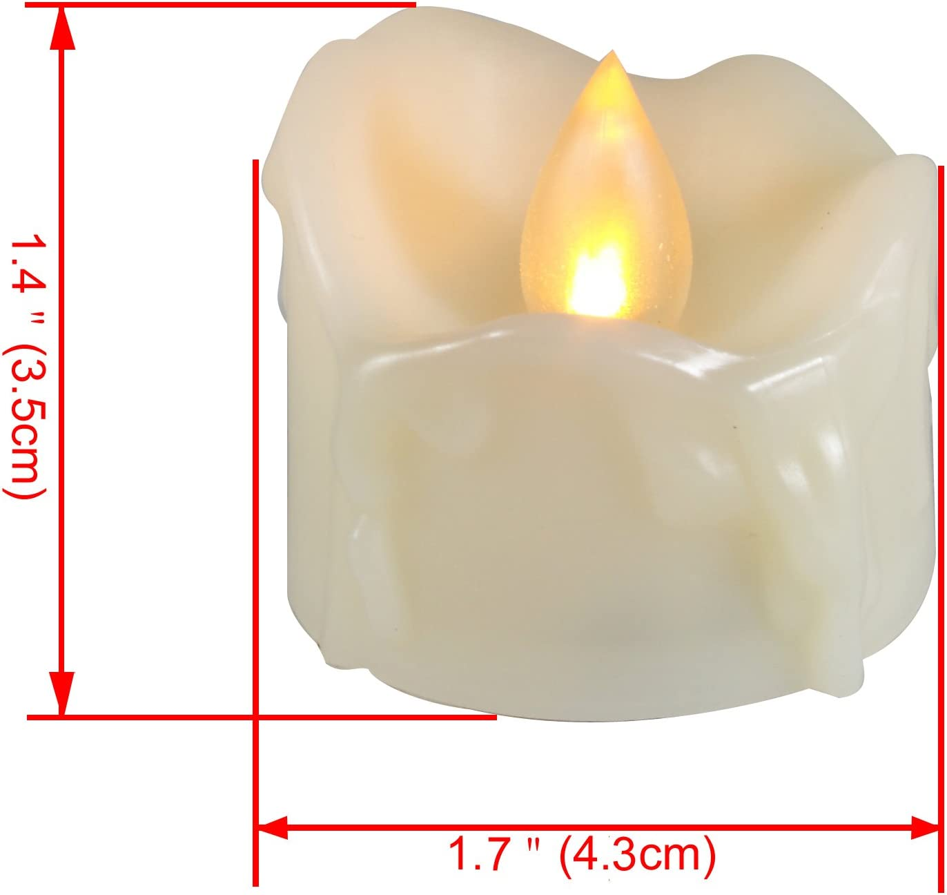Battery operated Tealights Candle Choice Set of 24 Flameless Candles LED Tealights Long Battery Life 120+ Hours Battery Included Flameless Tealights