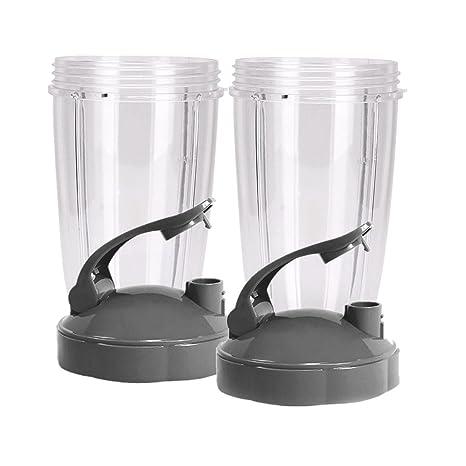 Nutribullet 680 tazas con Flip Top tapa de to-go por nutrigear (Juego de