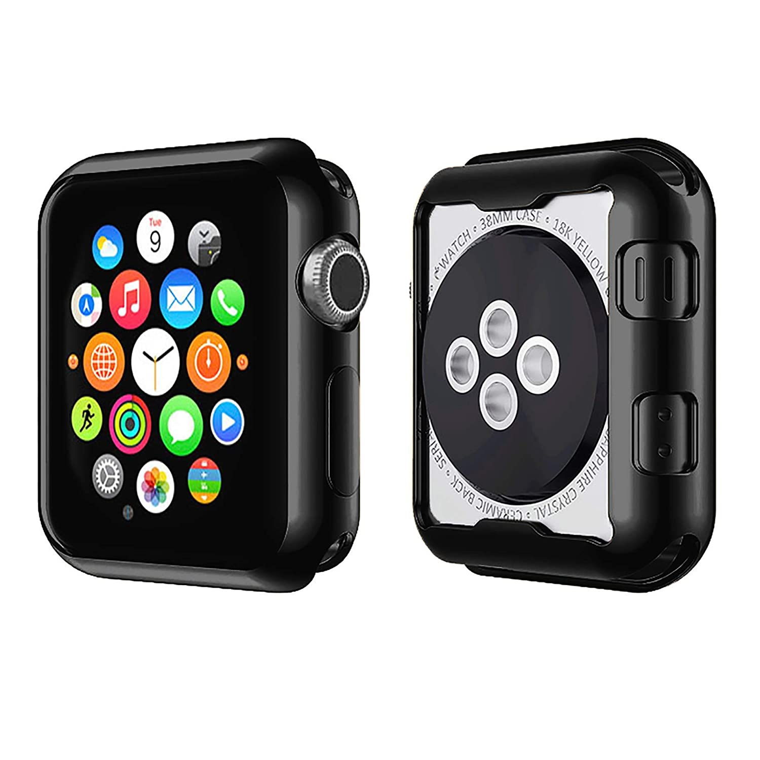 Casism Apple Watch Case Iwatch Case Screen Protector Series 2 3 4 (38-44mm)