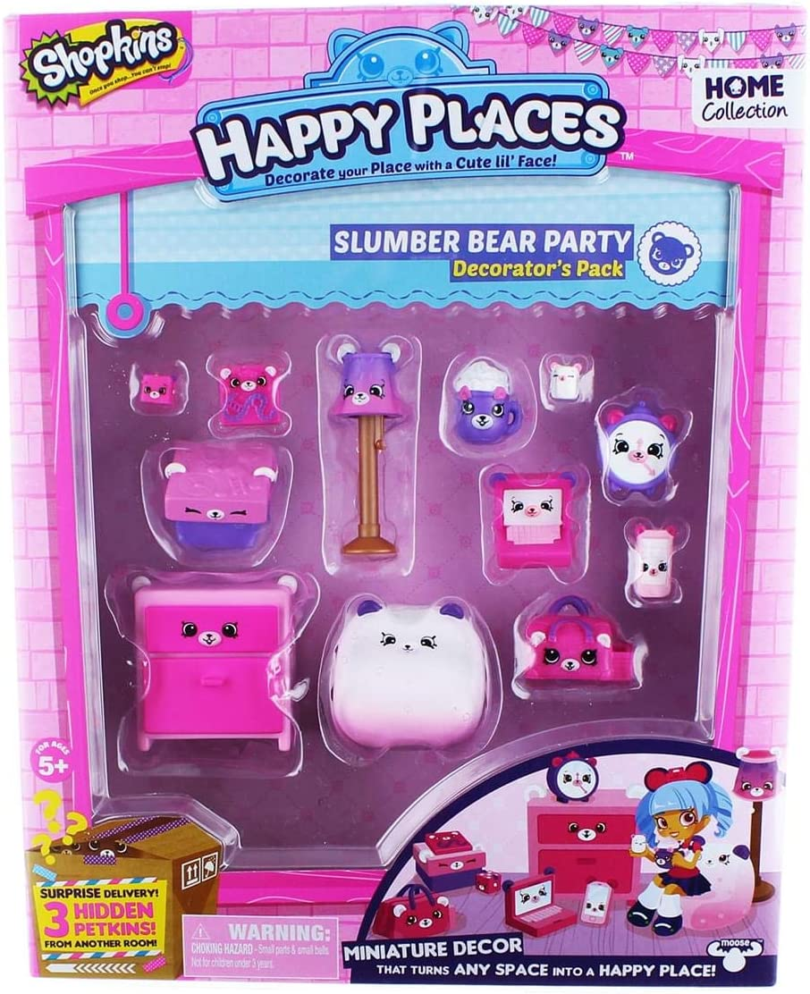 Shopkins Happy Places Season 1 Decorator Pack - Slumber Bear Bedroom