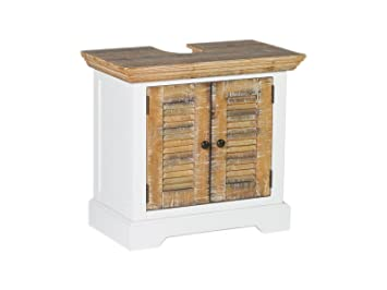 Waschtischunterschrank weiß landhaus  Woodkings® Waschbeckenunterschrank Manila Echtholz Pinie natur ...