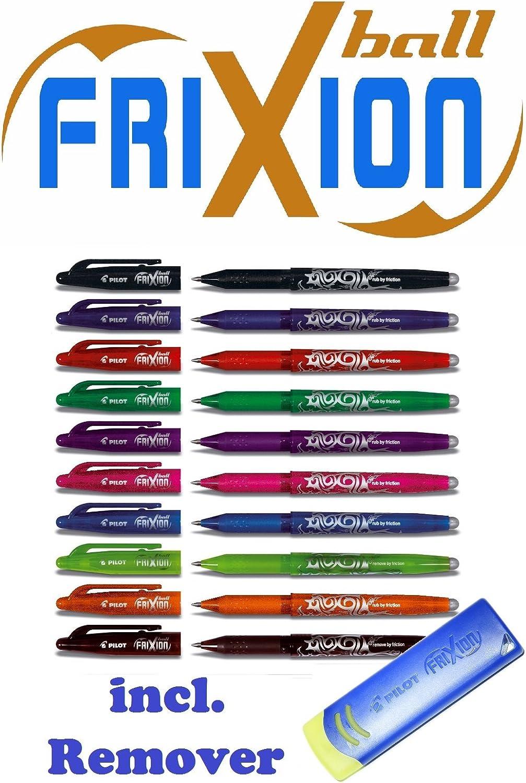 Pilot Frixion BL-FR7 Lot de 10 stylos /à bille effa/çables /à sec Pointe 0,7 mm Couleurs Assorties 10 Stylos Mode Capuchon sans gomme Multicolore