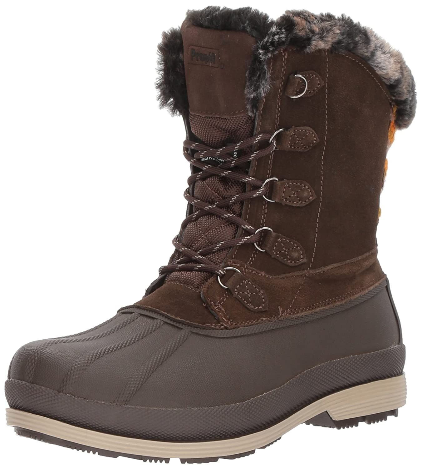 Propet Women's Lumi Tall Lace Snow Boot B01MXSR74D 9 2E US|Brown