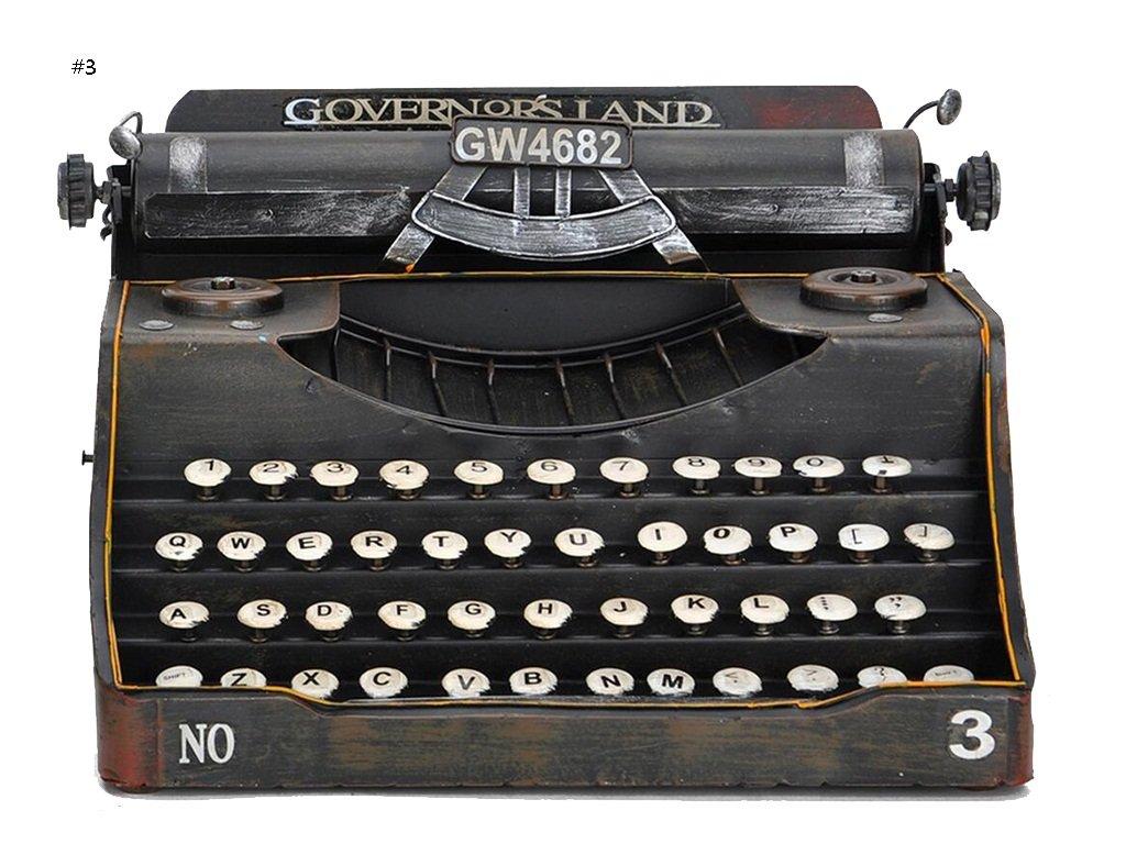 Global- Stile europeo Ferro Materiale Classico Modello di macchina da scrivere d'epoca, fatto a mano in ferro battuto ornamenti decorazioni Retro artigianato, Vetrina Artigianato decorativo ( Colore : #1 ) fanjiushi
