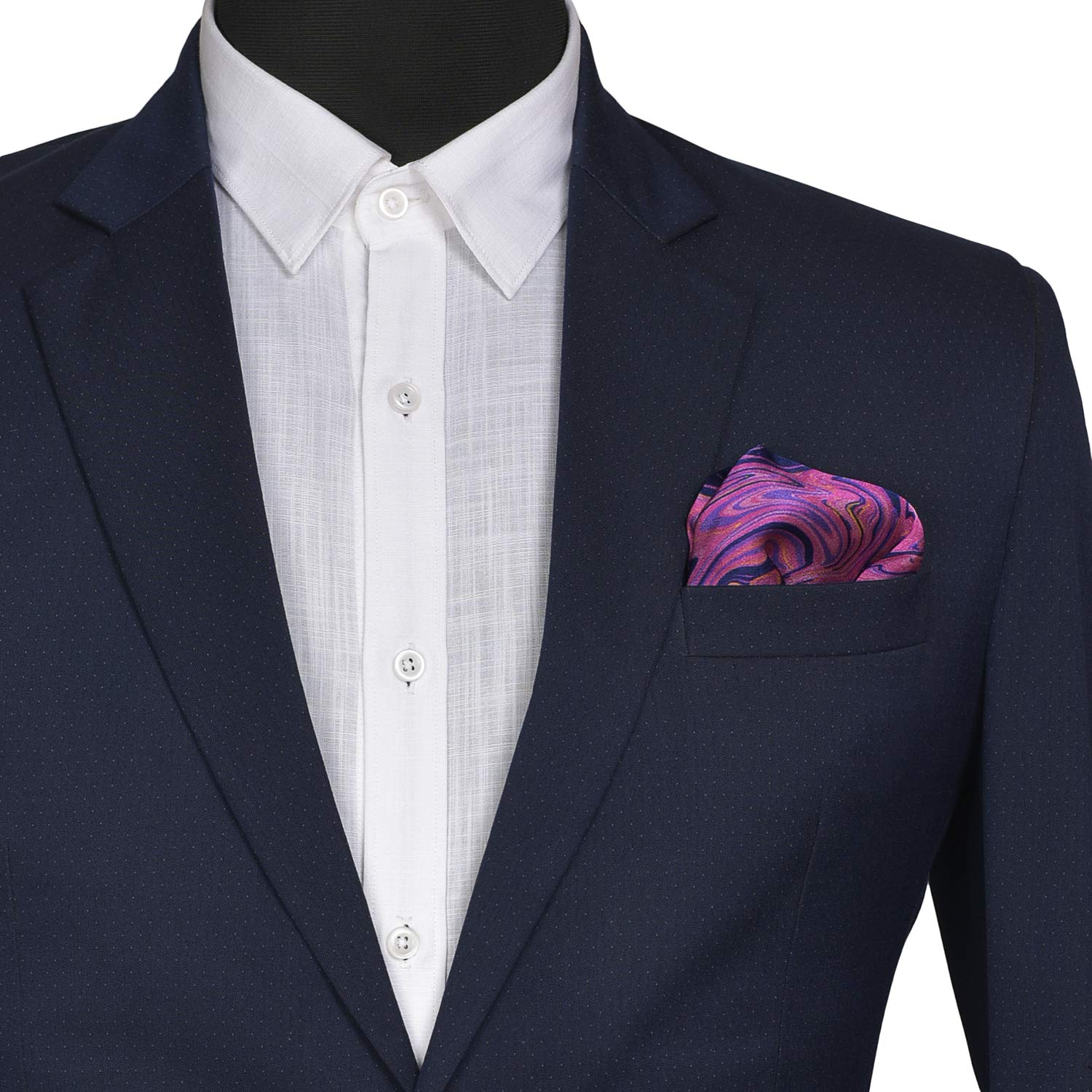 Chokore Navy blue /& purple Silk Pocket Square from the Marble Design range/_ MB81401/_53AC
