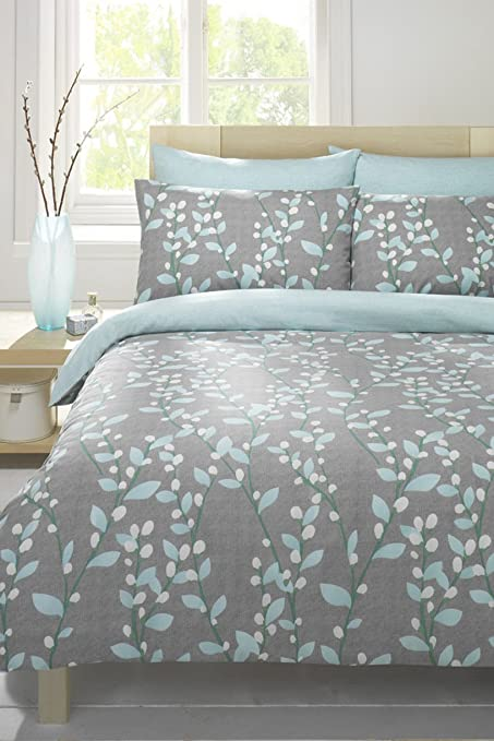 Duckegg Grey Double Duvet Cover Bed Set Amazon Co Uk Kitchen