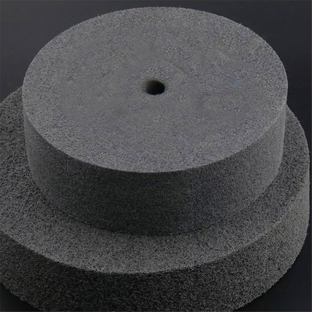 Fiber Polishing Buffing Wheel 320# Grit Nylon Abrasive 250mm Dia 50mm 7P Hardnes