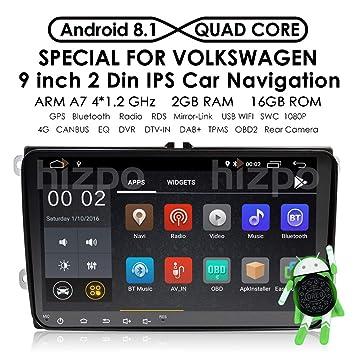 9 inch Android 7.1 estéreo de coche Radio sistema de video Receptor para VW Jetta Passat, ...