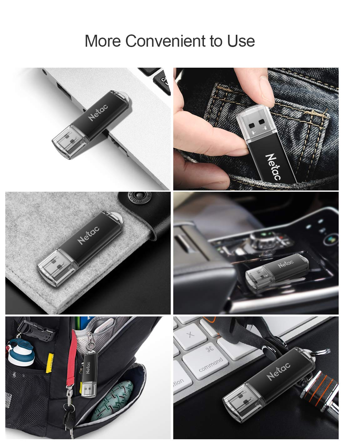 Netac 10 X 16G USB 2.0 Flash Drive, High Speed Swivel Design Memory Stick, Pen Drive, Thumb Drive for Data Storage, Zip Drive and jump Drive with LED Light