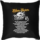 Kissen mit Füllung! Biker Unser - Originelles Deko Kissen, Couchkissen für das Motorrad Vereinsheim!