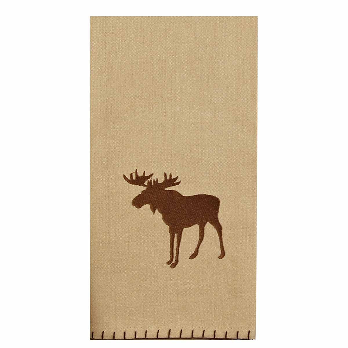 Home Collection by Raghu ETRE0162 Cabin Country Moose Lodge Towel, 18'' x 28''