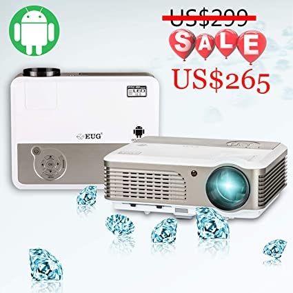 Amazon.com: EUG LCD WiFi, Android proyector Home Cinema ...