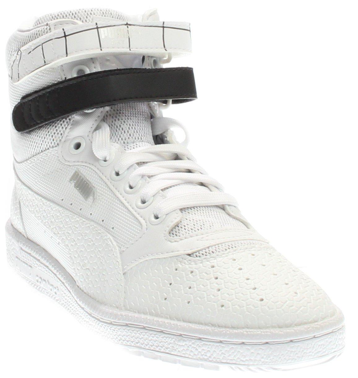 PUMA Women's Sky Ii Hi Sf Texture WN's Basketball Shoe, White Black, 8.5 M US by PUMA (Image #1)