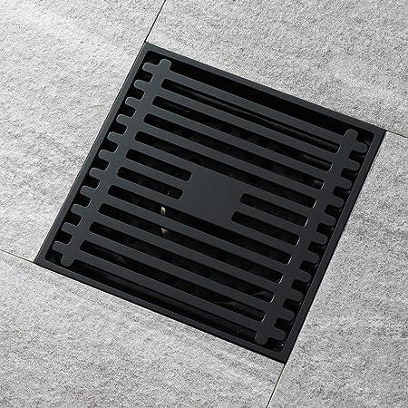 FHAMEI Drenaje del Piso de Cobre Puro Cuarto de baño Cuarto de baño Jardín de Cocina Desodorante Desagüe del Piso Desmontable (100 mm × 100 mm): Amazon.es: Hogar