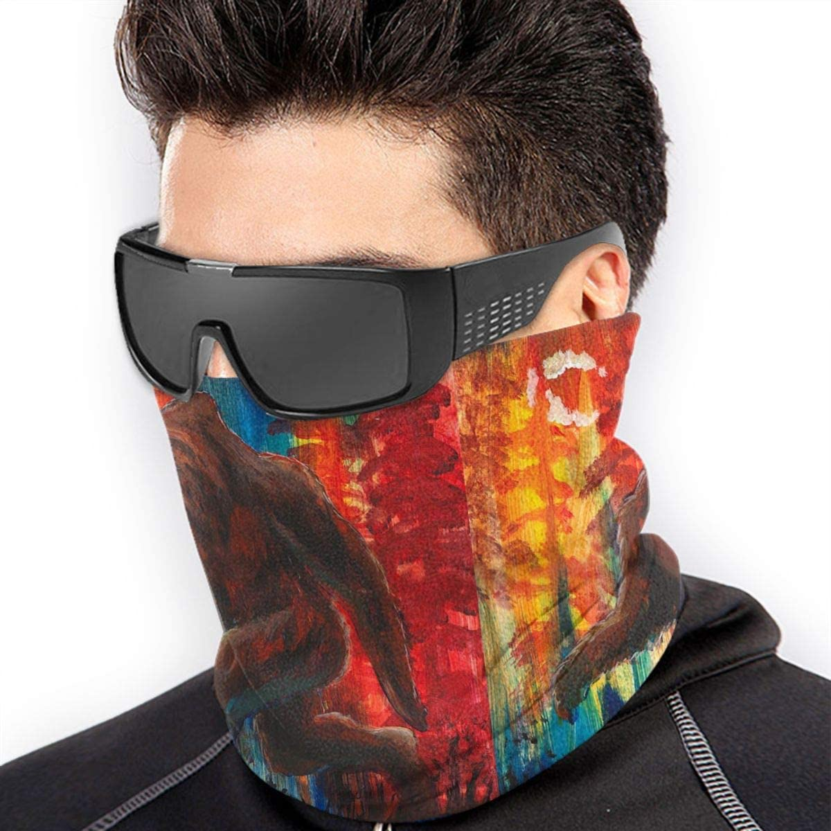 Bigfoot Sasquatch Microfiber Neck Warmer Balaclavas Soft Fleece Headwear Face Scarf Mask for Winter