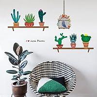 decalmile Cactus Plantas Pegatinas de Pared Vinilo Naturaleza Pegatinas Decorativos Adhesiva Pared Dormitorio Salón…