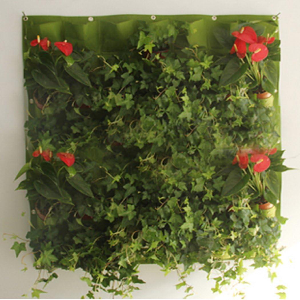 18 bolsillos vertical de pared de montaje de jard/ín plantador crecer bolsas de contenedores Living fieltro pared colgante jardinera ecol/ógica bolsas de cultivo