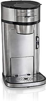 Hamilton Beach Scoop Single Serve Coffee Maker, Fast Brewing, Stainless Steel