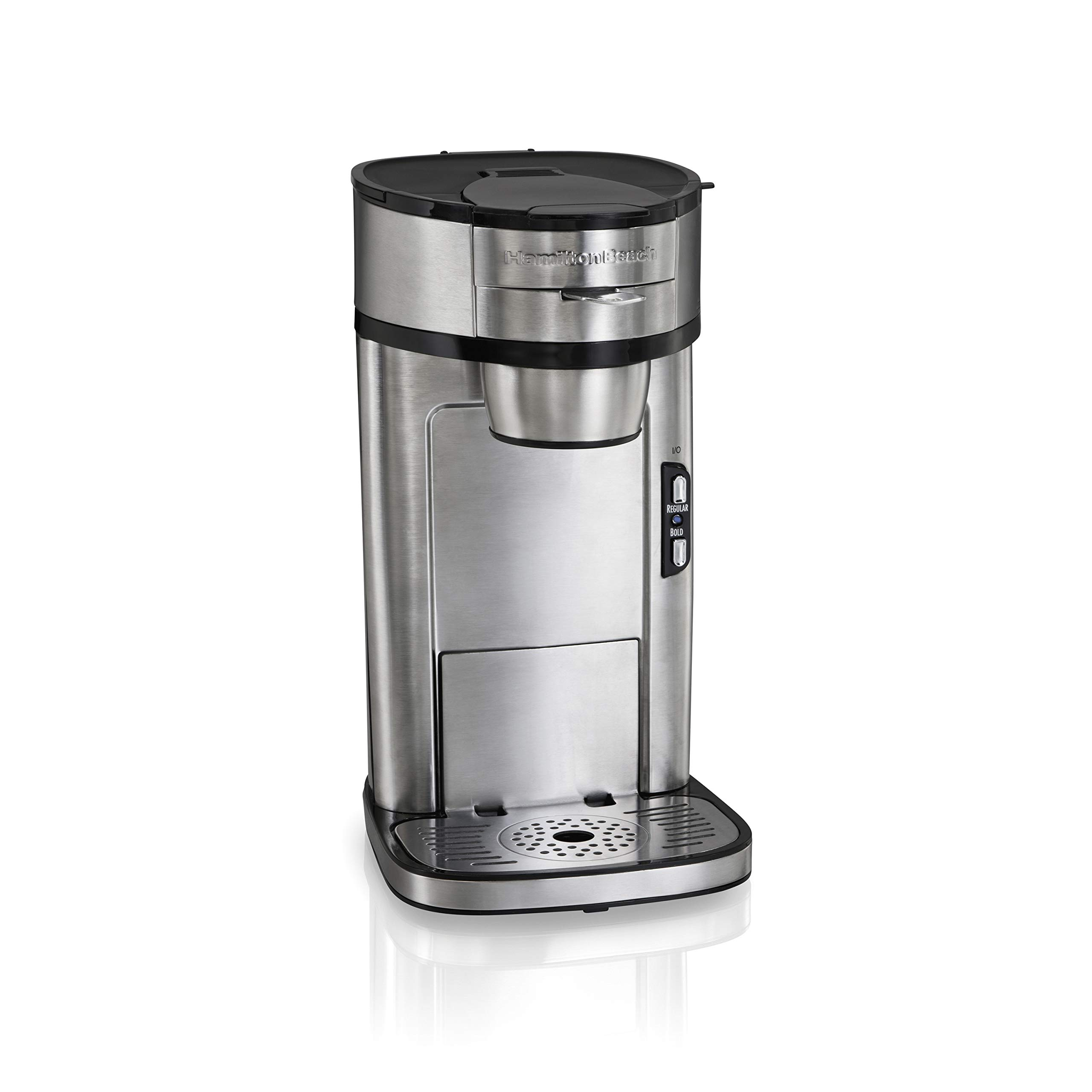 Hamilton Beach The Scoop Single Serve Coffee Maker, Fast Brewing, Stainless Steel (49981A), by Hamilton Beach