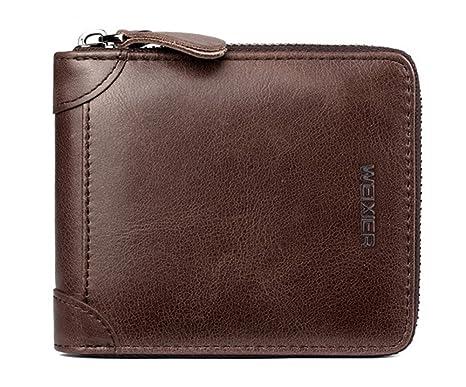 Billetera para hombres Cartera de cuero para hombres Billetera de cuero para hombres(marrón)