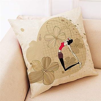 Lywey 2019 Fashion Home Decor Cushion Cover Yoga Exercise Pillowcase Throw Pillow Covers