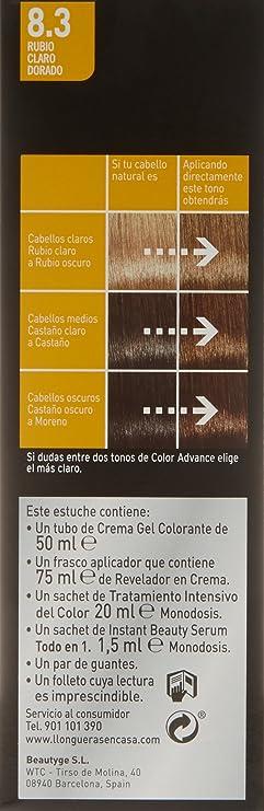 Llongueras Color Advance 8.3 Rubio Claro Dorado - 200 gr ...