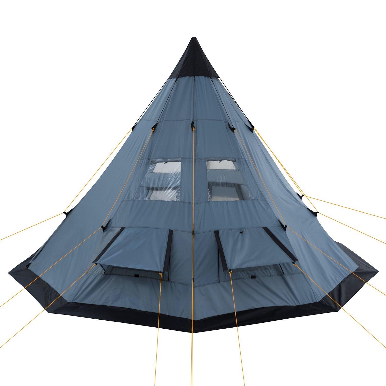 C&Feuer® - Tipi Teepee - Tent grey/blue Amazon.co.uk Sports u0026 Outdoors  sc 1 st  Amazon UK & CampFeuer® - Tipi Teepee - Tent grey/blue: Amazon.co.uk: Sports ...