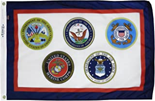 product image for 4x6' Armed Forces Multi Service Military Flag, Outdoor All Weather Nylon, Made in USA