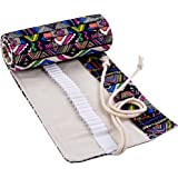 eBoot 72 Holes Wrap Holder Pencil Wrap Pencil Case for Artist, School, Office and Bohemian