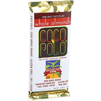 Coco Polo 39% Cacao Leche Chocolate Bar endulzado con Stevia ...