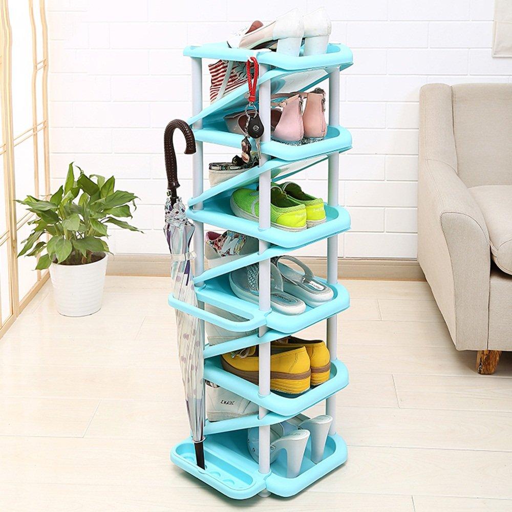 EIDUOシューズラック 11脚の靴と4傘が収納可能なマルチレイヤーシューラック 自宅に適しています (色 : 5) B07DK6FNQ2 5