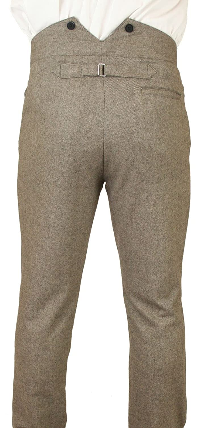 Men's Vintage Pants, Trousers, Jeans, Overalls Historical Emporium Mens High Waist Peabody 100% Wool Tweed Dress Trousers $75.95 AT vintagedancer.com