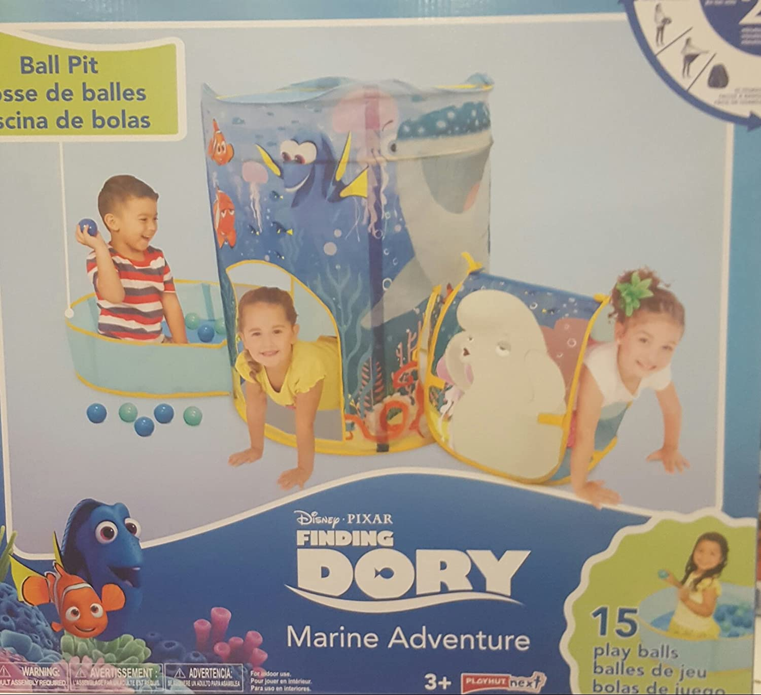 Amazon.com Playhut Tent Ball Pit Tunnel Disney Finding Dory Marine Adventure Toys u0026 Games  sc 1 st  Amazon.com & Amazon.com: Playhut Tent Ball Pit Tunnel Disney Finding Dory ...