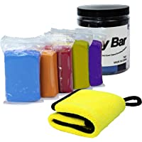 Eazy2hD Car Clay Bar 5 Pack 100g, Car Clay Bar Cleaner Auto Detailing with Towel for Car, Glass, Vehicles and Much More…