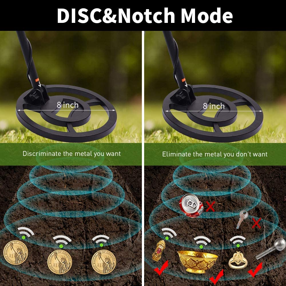 Adjustable Metal Detector for Adult and Kids High Accuracy Waterproof Metal Detector with LCD Display High Sensitivity Metal Detector Kit of Metal Discrimination /& Pinpoint for Detecting Underground