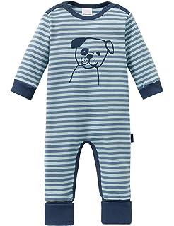 7ea71d2654 Schiesser Jungen Cool Dogs Baby Anzug mit Vario Fuß Zweiteiliger Schlafanzug