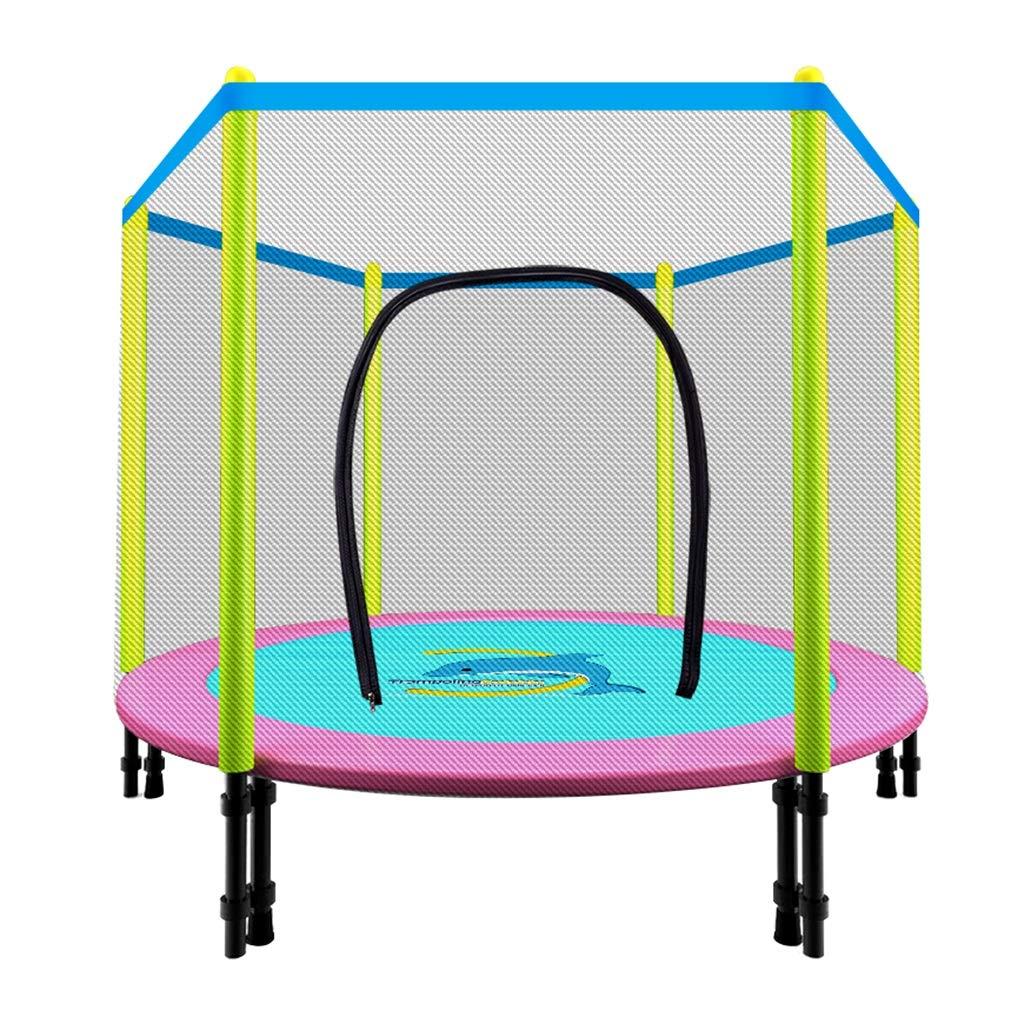 Gartentrampoline Mini-Trampolin Kindertrampolin mit Netzschutz Trampolin für Heimgymnastik rundes Sprungbett für Innen doppeltes Bungee-Sprungbett, Tragfähigkeit von etwa 150 kg Trampoline