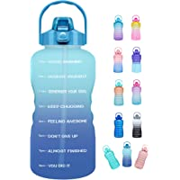 Venture Pal Large Half Gallon/64oz Motivational Water Bottle with Time Marker & Straw,Leakproof Tritan BPA Free Water…
