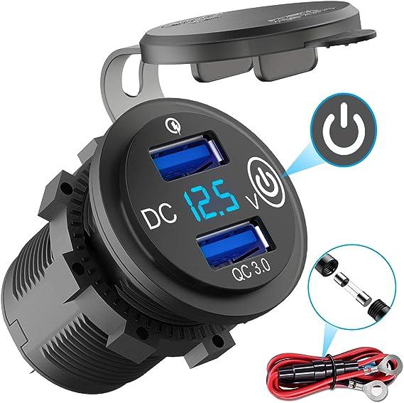 Quick Charge 3 0 Usb Steckdose Auto Mit Schalter 12v Elektronik