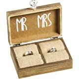 Cypress Home Mr. & Mrs. Wooden Ring Holder Box