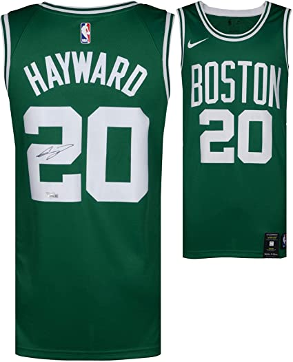 Image Unavailable. Image not available for. Color  Gordon Hayward Boston  Celtics Autographed Green Nike Swingman Jersey ... b07491f40aaf