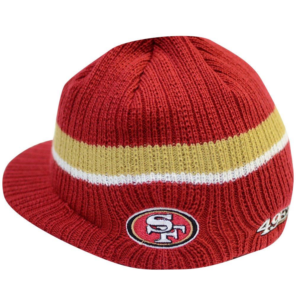 Outerstuff NFL ユース ニット帽 バイザー付き サンフランシスコフォーティナイナーズ  B07LBZQD1T
