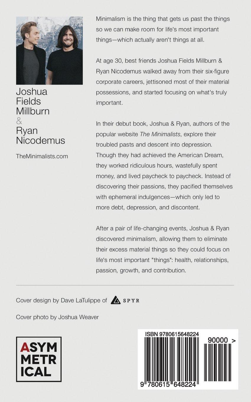 Minimalism Live A Meaningful Life Joshua Fields Millburn Ryan