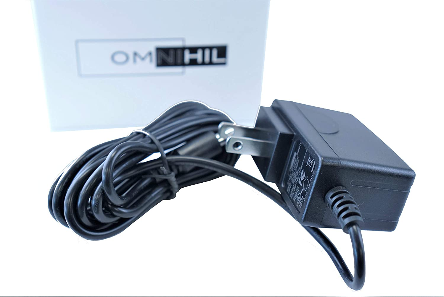 [UL Listed] Omnihil 8 Feet AC Power Cord Compatible with Ktec AC/DC Adapter Model KSAS0060500100VUD