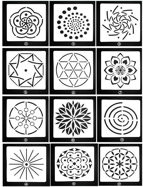 Card making Craft Stencil Airbrush circle Stencil pattern stencil
