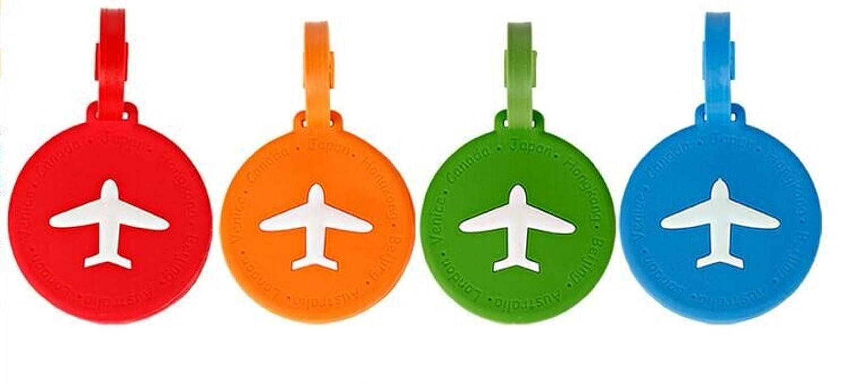 carr/é NOVAGO/® Lot de 4 /Étiquettes /à Bagages///Étiquettes /à Valise Avion